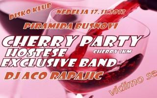 17.11.2013. – Disco club Piramida Busnovi: Cherry party