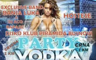 24.11.2013. – Disco club Piramida Busnovi: Vodka party
